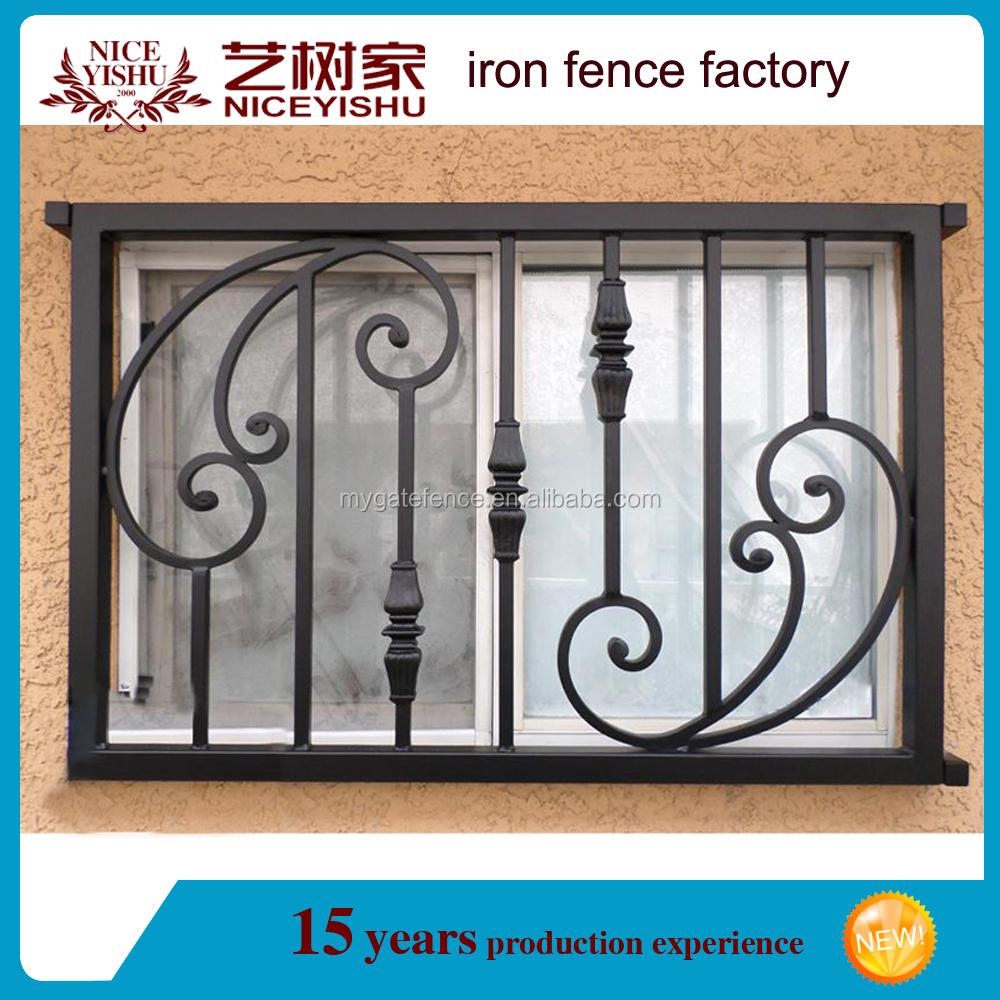 2016 ltimas simples hierro forjado ventana parrillas - Colgadores de hierro forjado ...