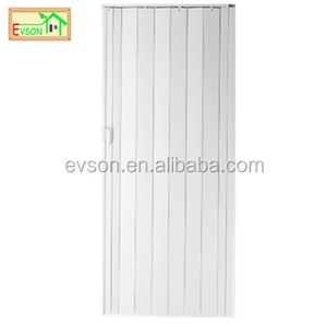 PVC Vinyl Accordion Doors Lowes With White Color