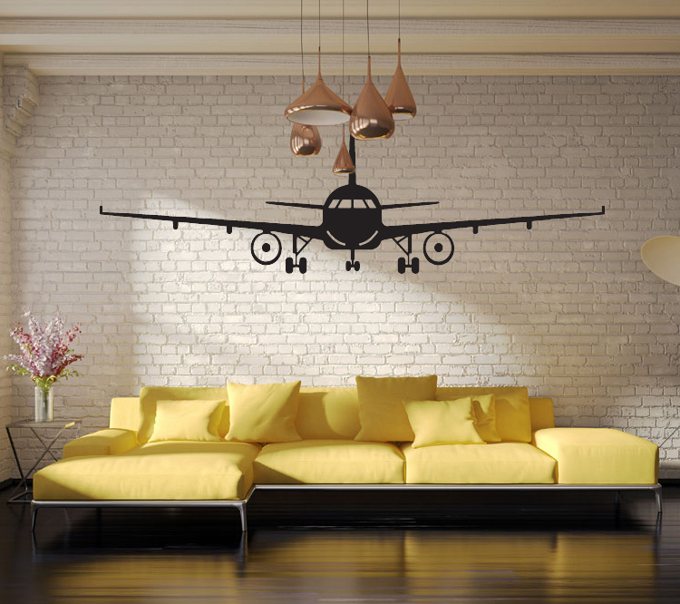 4028 3d airplane wall stickers muraux wall decor airplane wall art decal decoration vinyl. Black Bedroom Furniture Sets. Home Design Ideas