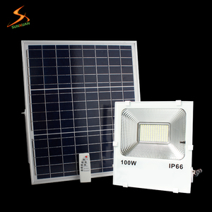 Ip66 100W powerful rechargeable outdoor lighting best solar led floodlight