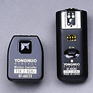 Tinksky YONGNUO RF-602 2.4GHz Wireless Remote Control Flash Trigger for Canon (Black)