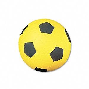 Champion Sports : Soccer Ball, Coated Foam, 12 oz., Yellow/Black -:- Sold as 2 Packs of - 1 - / - Total of 2 Each