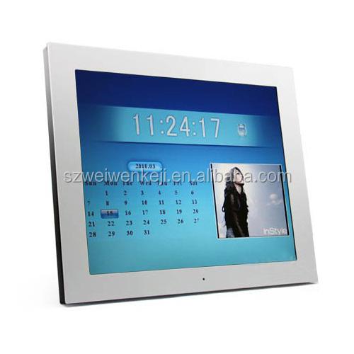 Lcd Small Screen Electronic Desk Calendar Acrylic Audio Digital