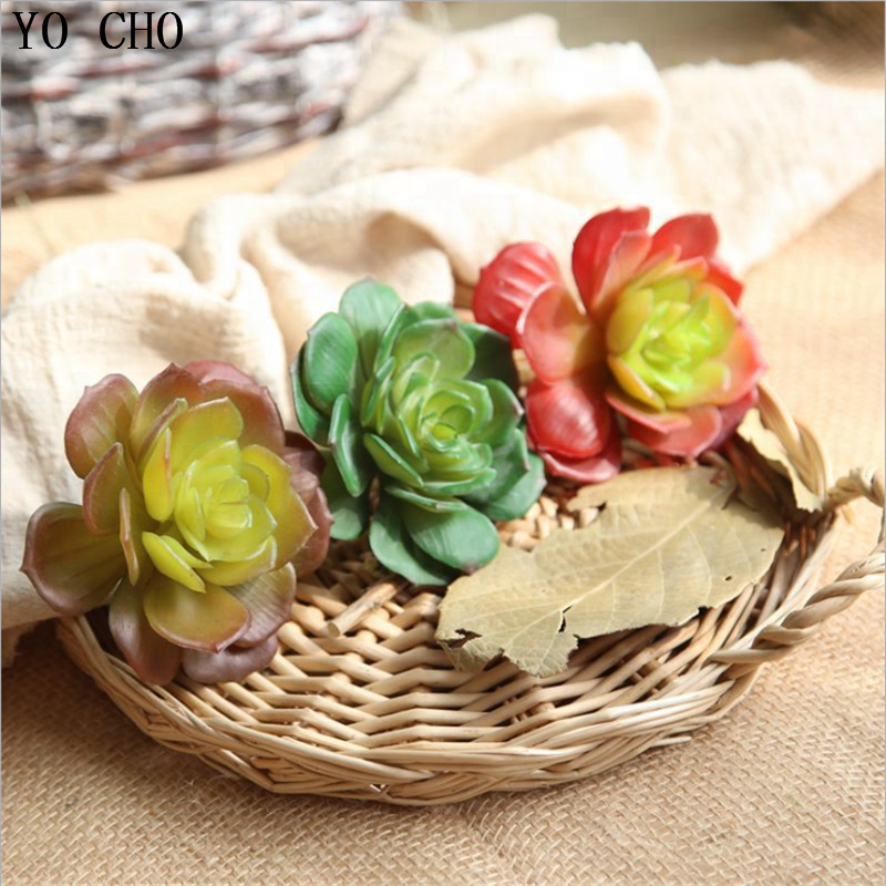 YO CHO Plastic Fake Cactus Mini Hanging Azaria Succulent Plants Picks Artificial Succulent Wall Plants Set Shenzhen For Sale