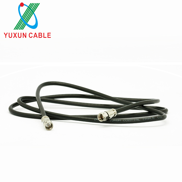Free Sample RG6 Coaxial Cable With F Type Connector For Cable TV
