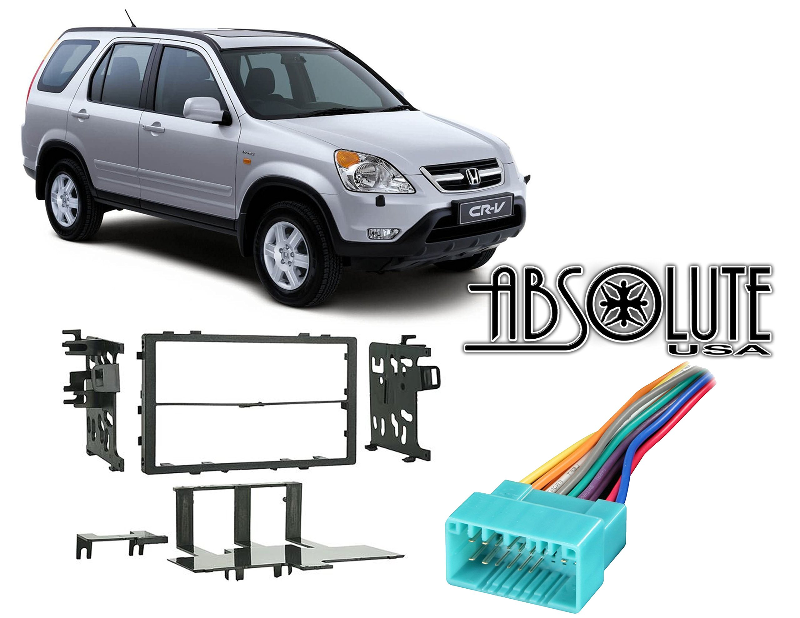 Cheap Honda Crv Radio Wiring Diagram Find Online Store 2010 Antenna Parts Get Quotations Absolute Radiokitpkg19 Fits 1999 2006 Double Din Aftermarket Harness Install Dash Kit