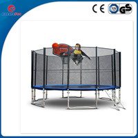 CreateFun trampoline cheap large trampoline games with safety net and basketball hoop