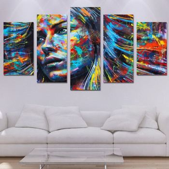 Modern No Frame Abstract Women Portrait Paining Wall Art Canvas Paintings Home Decor For Bedroom Or
