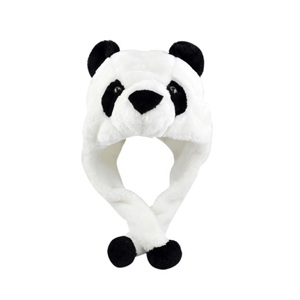 Custom Soft Winter Plush Fuzzy Panda Hat Cap Animal Costume