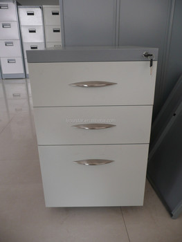 Mobile pedestal 3 drawers Key lock stoareg cabinet metal office A4 file cabinet & Mobile Pedestal 3 Drawers Key Lock Stoareg Cabinet Metal Office A4 ...