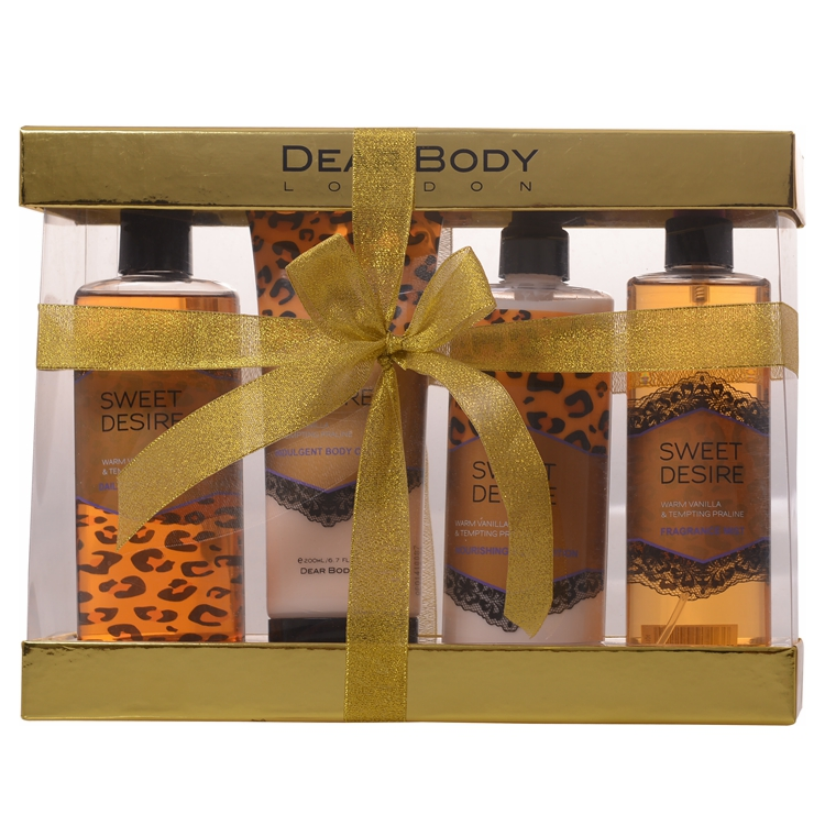 luxury cosmetic shower gel body lotion bath and body care promotional gift set