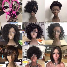 100% Virgin Brazilian Curly wave Fashion bob short human hair full lace wig