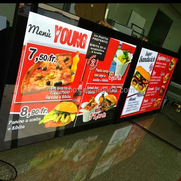 restaurant advertising board menu poster board fastfood display