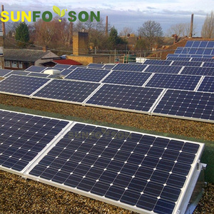 Flat Roof PV solar panel racking system for commercial or industrial application