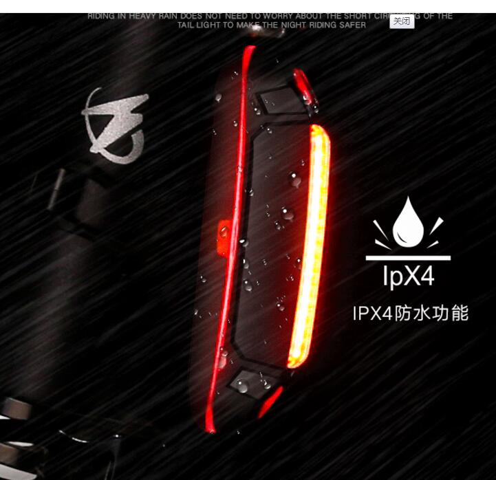 Manufacture Bicycle Tail Light Warning Safety Light Mountain Bike Light