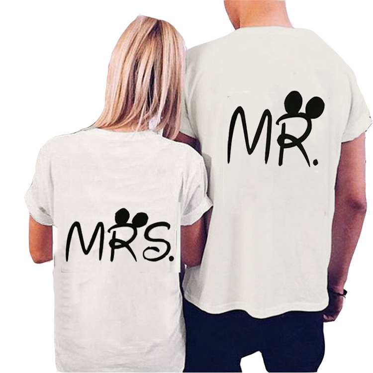 b87391ed6a Mr Mrs Printed Couple T-shirts Short Sleeve Cotton T-shirt - Buy ...