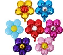 44.5cm*55.4cm medium size cute party decoration foil flower balloons