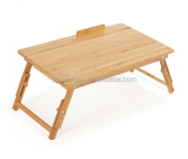 new hot bamboo folding computer desk for bed use