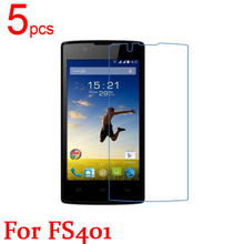 5pcs Ultra Clear LCD Screen Protector Film Cover For Fly FS401 Stratus 1 Protective Film  +  cloth free shipping