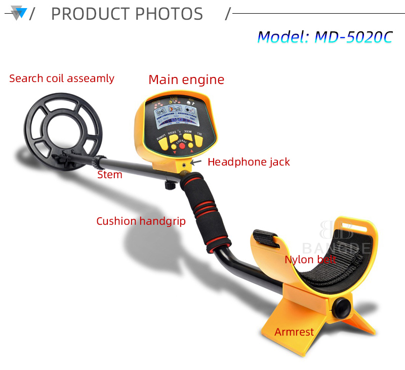 Metal Detector MD5020C/MD9020C Underground Gold Detector High Sensitivity LCD Display