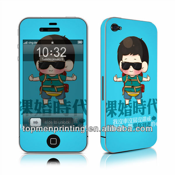 Mobile cover matte skin for cell phones skins for iphone 4 hot selling sticker