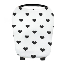 Heart Design Rayon Material 4-in 1 Nursing Scarf for Breastfeeding