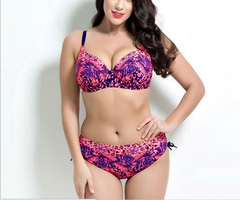 7c04c77bc83f4 2017 Hot sale sexy women plus size Bathing Suit Push up bikinis women Large  Cup Bikini