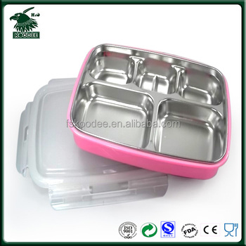 stainless steel bento box with leak proof sealing lid for office lady buy stainless steel. Black Bedroom Furniture Sets. Home Design Ideas