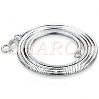Wholesale Love Wish Pearl 925 Pure Sterling Silver Snake Charm Chain