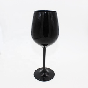 201-300 ml and colorful glass goblet full black crystal wine glass