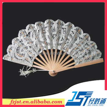 22cm Different Types Of Embroidery Lace Wedding Fan Wedding Bridal