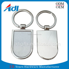 Various Shapes Laser Engrave Logo Zinc Alloy Wholesale Cheap Promotion Gift Blank Custom Metal Keychain