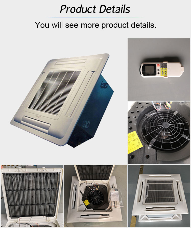 4 Pipe Water Cooled Ceiling Chilled Water Cooling And Heating Electric Cassette Fan Coil Unit Price