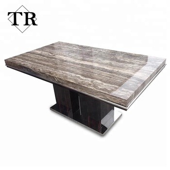 2018 New Desig Stone Top Wooden Dining Table View Wooden Dining Table KARUIDI Product Details From Foshan Turri Furniture Co Ltd On