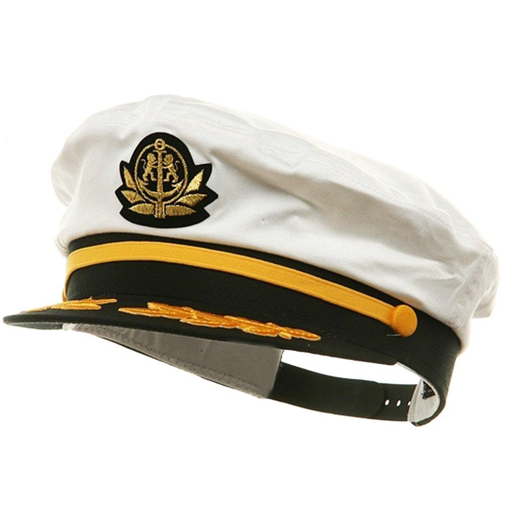 555ca3c789d Get Quotations · Yacht Captain Hat – Sailor Cap