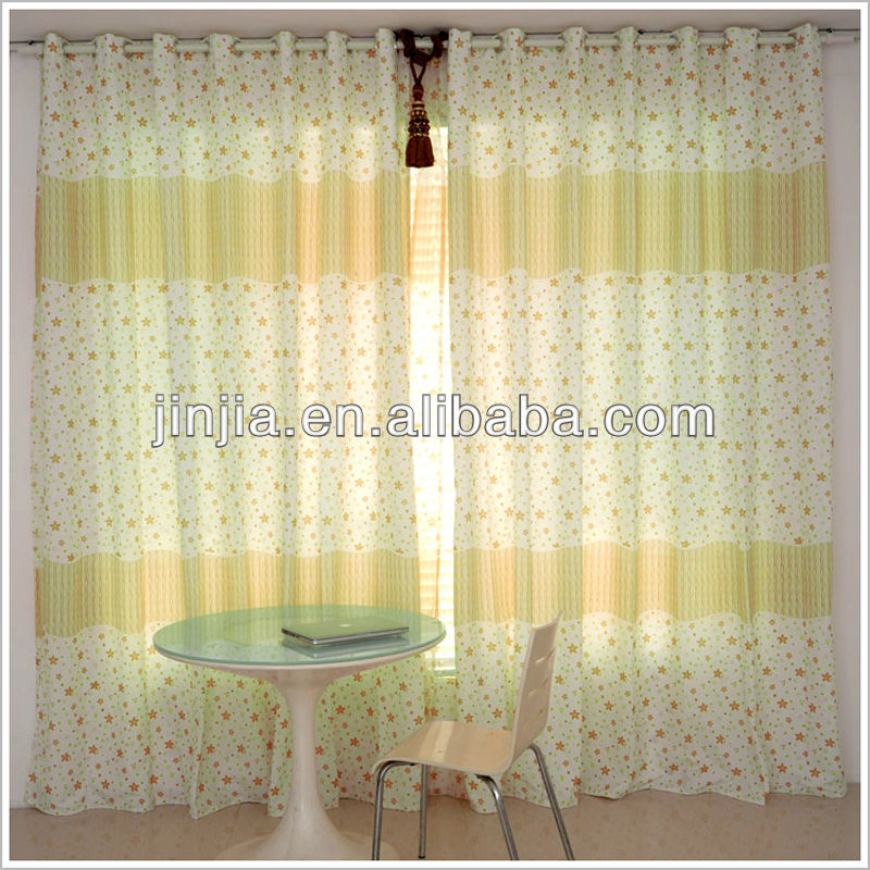Shaoxing cheap curtain factory top three embroidered sheer voile door curtain fabric