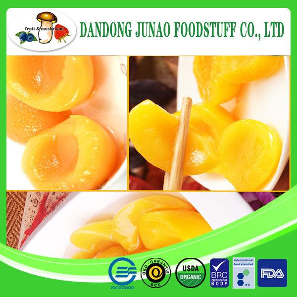 organic fresh canned yellow peach