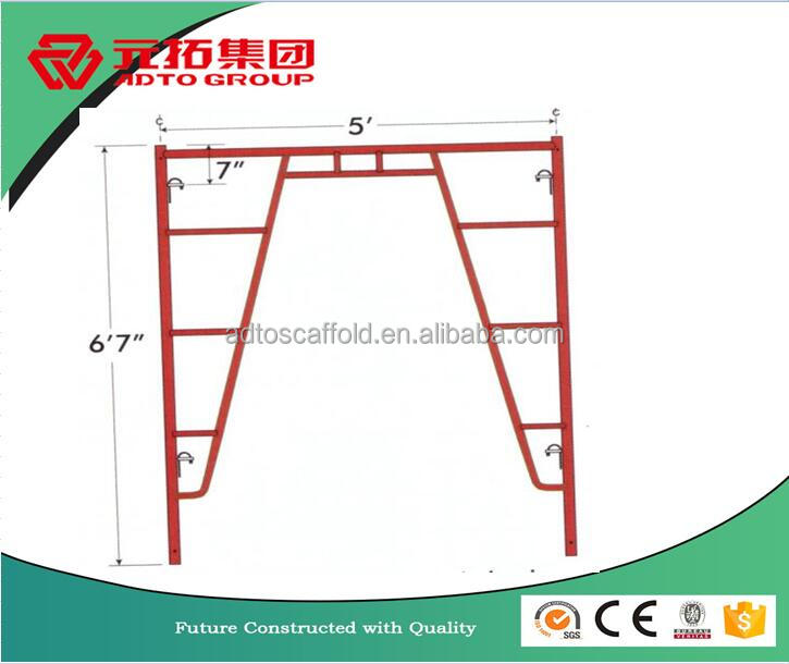 5' x 6'7'' Heavy Duty Walk Thru Frame Fast Lock AKA J-Frame Type Frame