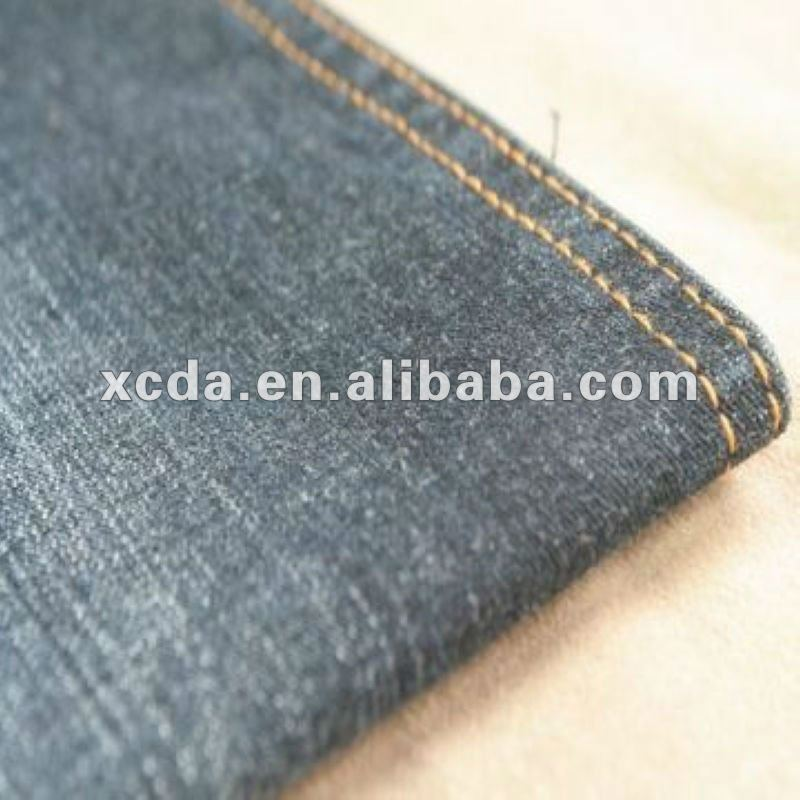 98%cotton 2%elastane slub denim fabric 11oz,spandex slub denim