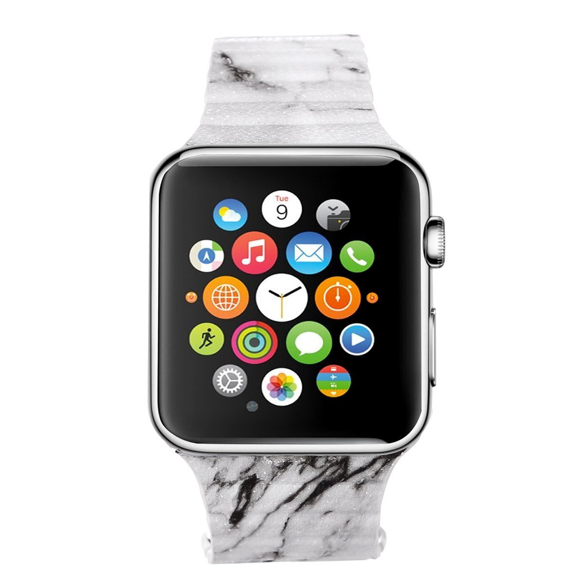 Apple Watch Band 42mm, SONICE Painting Leather Loop with Adjustable Magnetic Closure iWatch Band Replacement Bracelet Strap for Apple Watch Sport & Edition (Marble 42MM)