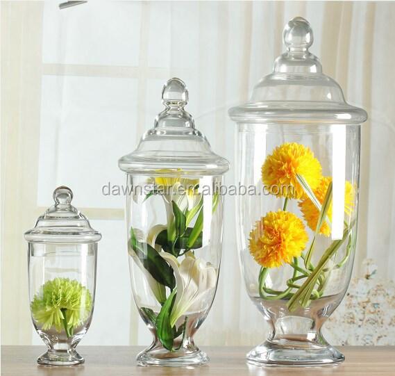 Precio barato europeo exquisted forma grandes frascos de - Precio del vidrio ...