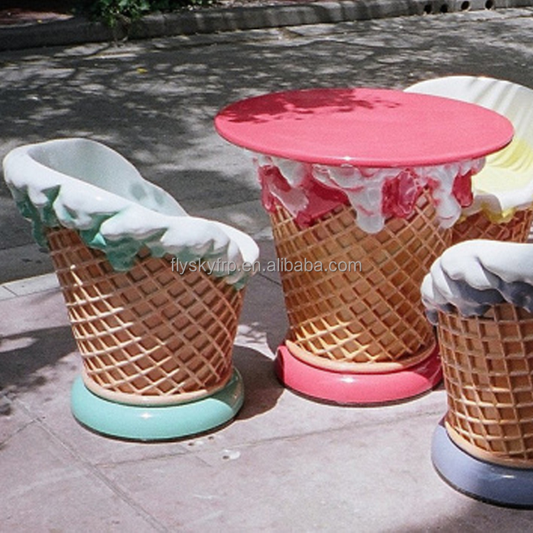 Superieur Ice Cream Furniture Chair And Table   Buy Ice Cream Furniture,Fiberglass Ice  Cream Chair,Custom Fiberglass Chair Product On Alibaba.com