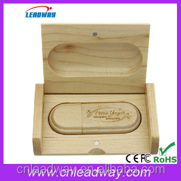 2017 new wood personalized usb,laser engraved logo 2gb usb drive,wood box jump drives for sale