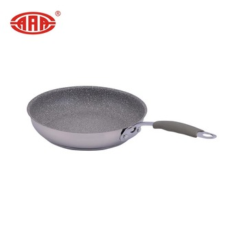Safe and environmental non stick coating induction bottom frying pan