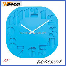 China factory Supply plastic square digital wall clock home decor