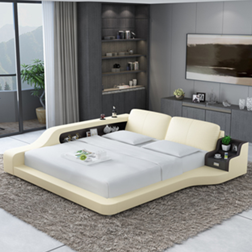 New House Or Hotel Sleeper Sofa Bed Modern Leather Beds - Buy