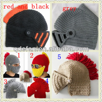 Jimo Efan Crochet Beanie Helmet Hat Knight Hat Kids And Adults Size ...