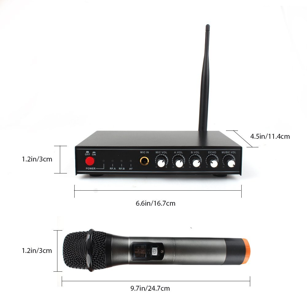 High Quality handheld UHF car stereo microphone