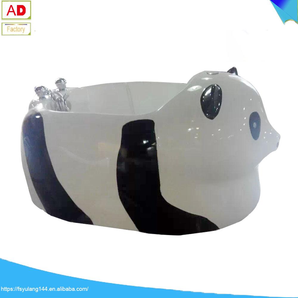 Ad 6491 Begitu Lucu Panda Adorable Colorful Led Light Berdiri Bebas Bak Mandi Anak Bayi Pijat Pusaran Air