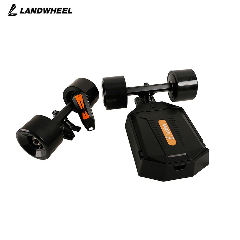 Landwheel Dual Hub Motor 4 Wheels Electric Moterized Longboard Skateboard kit with Remote Control